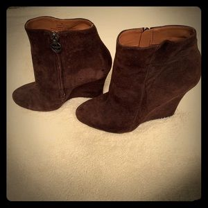 Sam Edelman Wilma wedge bootie size 9 brown